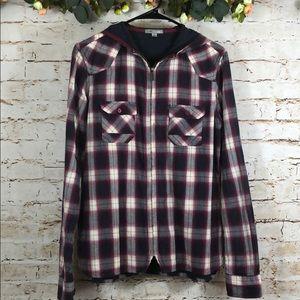 Horny Toad Zip Up Flannel Lightweight Jacket